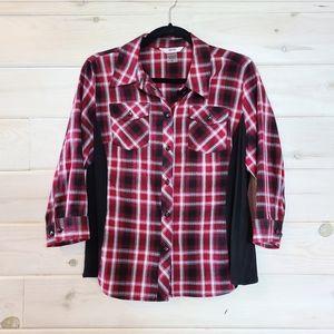 ALIA Petite Plaid Shirt